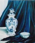 Delftsblauwe dekselvaas